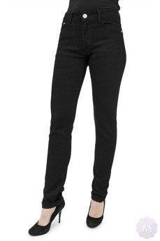 d668aaf223be98 Czarne damskie spodnie jeansowe z prostą nogawką i wysokim stanem firmy B.S  (S71)
