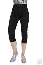 02ac0649c2775d Czarne elastyczne spodenki 3/4 jeansowe z wysokim stanem firmy Goodies  (VF809-Cz
