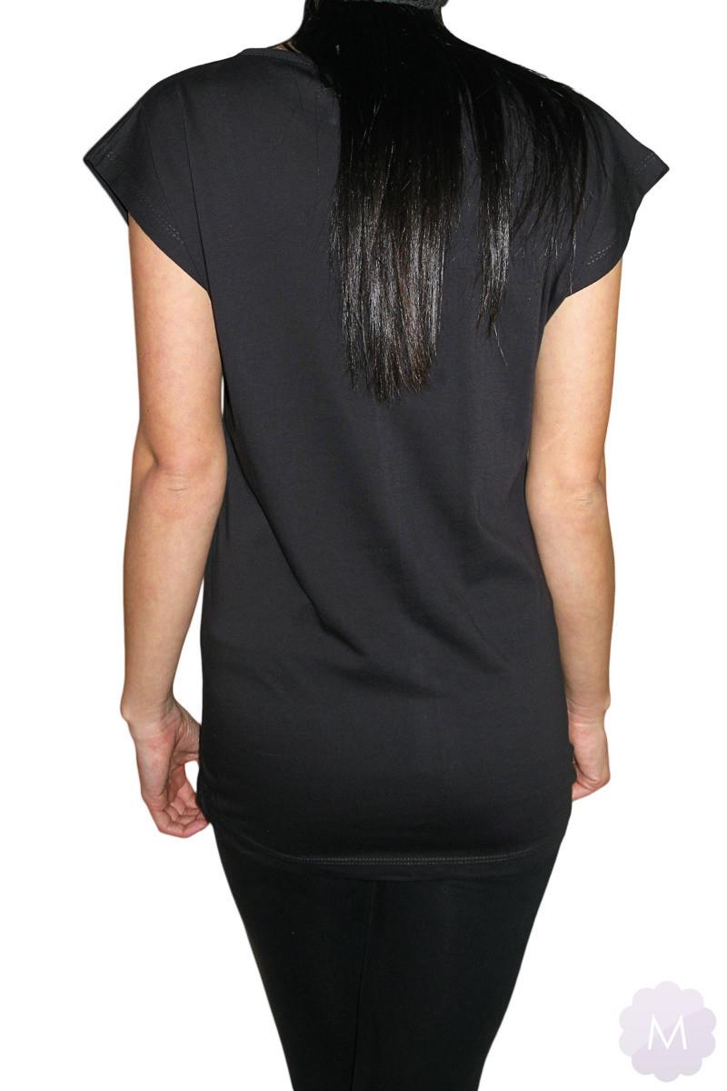 3f0ff95de926e6 ... Czarna koszulka / tunika OVERSIZE - DIAMONDS Kliknij, aby powiększyć