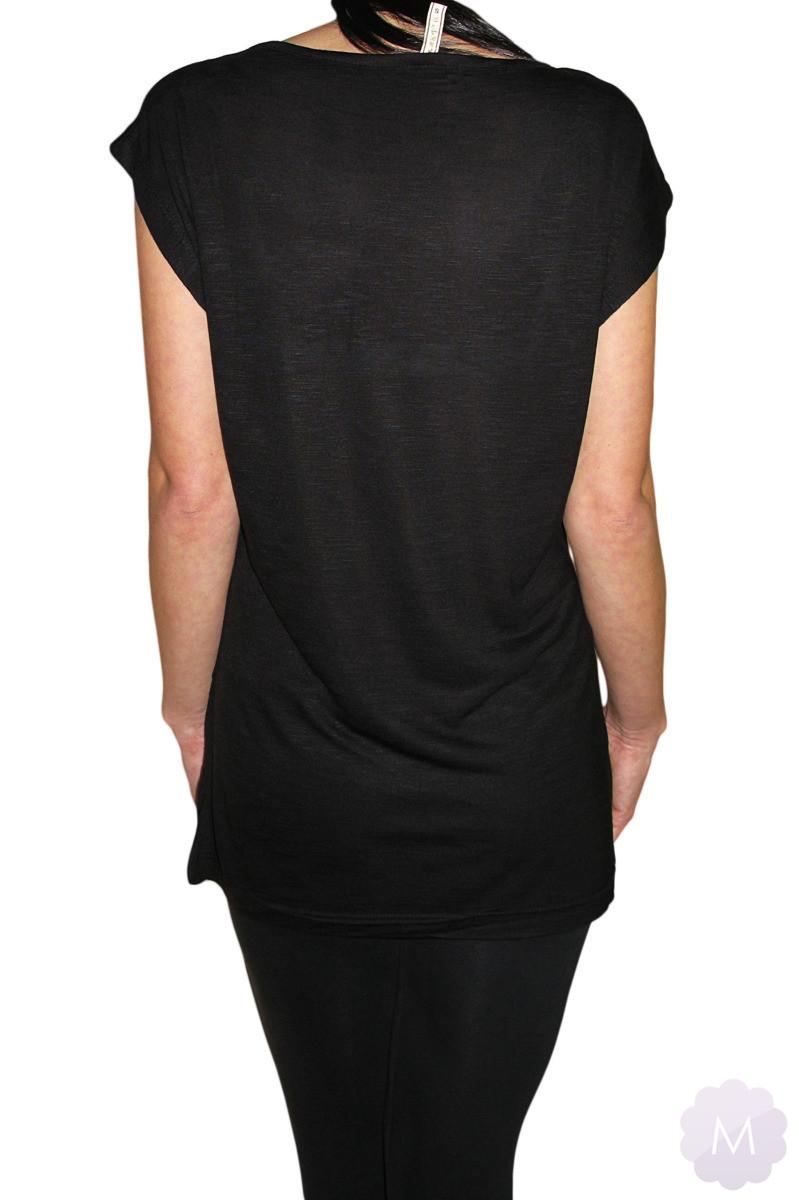 0035358ce4baea ... Czarna koszulka / tunika OVERSIZE - TAKE CHANCES Kliknij, aby powiększyć