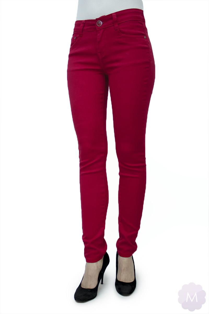 spodnie jeansowe czerwone