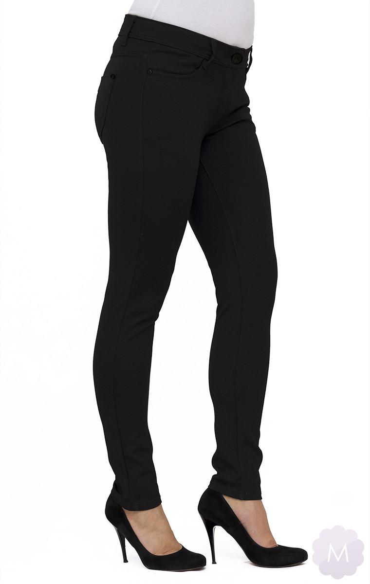 Elastyczne spodnie czarne leginsy rurki z wyższym stanem