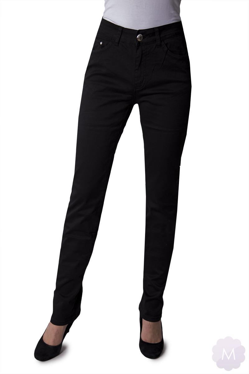 05c62436cdaed8 Kliknij, aby powiększyć · Spodnie czarne eleganckie prosta nogawka z wyższym  stanem (VJ77837)