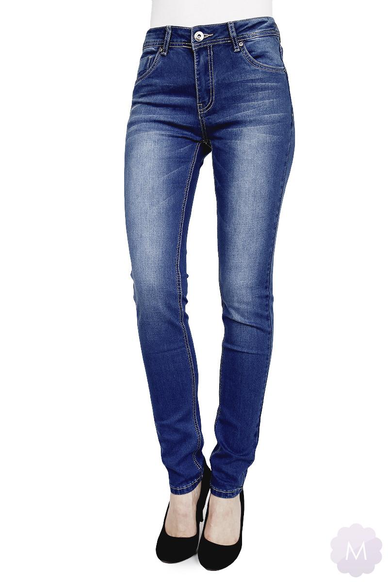 7e2895754b6de4 Spodnie mocne rurki damskie jeansowe z wyższym stanem (PTL-S2378) Kliknij,  aby powiększyć ...