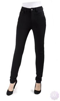 Elastyczne spodnie czarne leginsy rurki z wysokim stanem